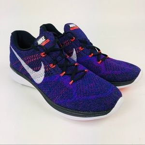 Nike Flyknit Lunar 3 Running Shoes 10.5 Purple new